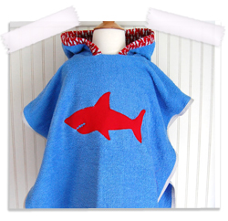 Shark bite terrycloth cover up
