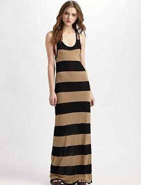 Joie Soft striped maxi dress