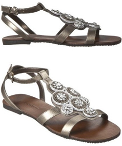 Indian-inspired bejeweled sandals