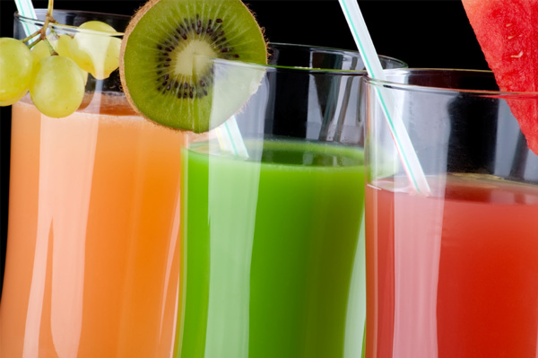 Variety of fruit juices