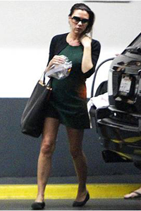 Victoria Beckham in flats