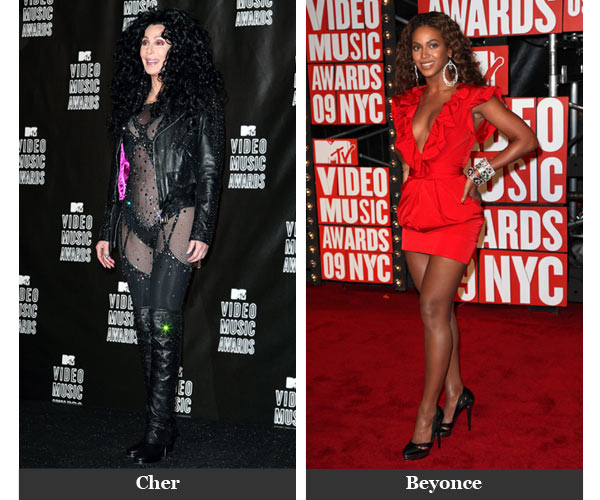 Cher and Beyonce at the Video Music Awards