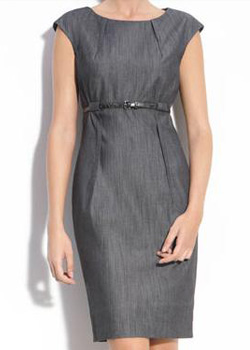 cap sleeve denim dress