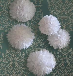 white paper poms