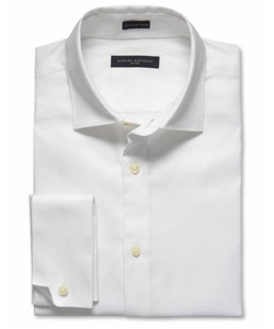 A man's white dress shirt or chambray shirt