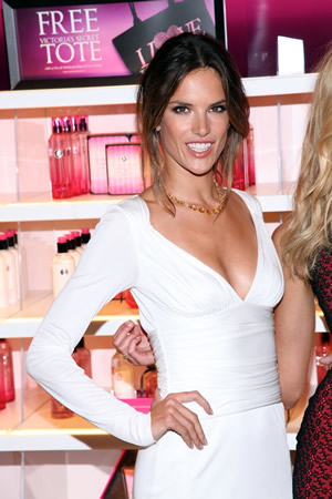 Victoria's Secret model Alessandra Ambrosio at Fashion's Night Out