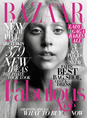 Harpar's Bazaar Lady Gaga no make-up