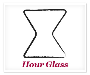 Curvy or hourglass shape