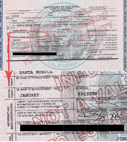 January Jones birth certificate