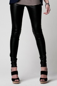 Paper Crown, leather leggings