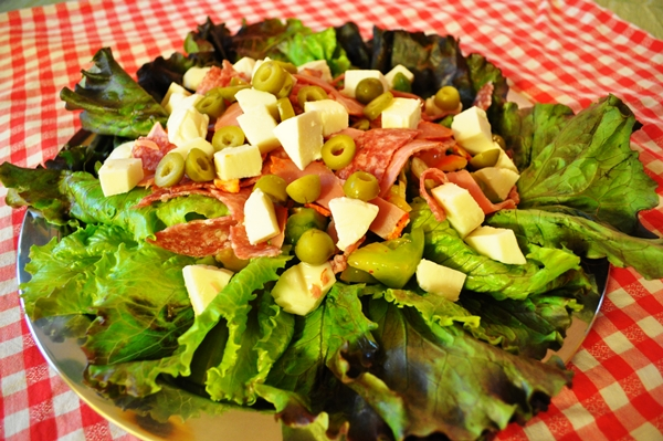 Antipasto becomes a salad