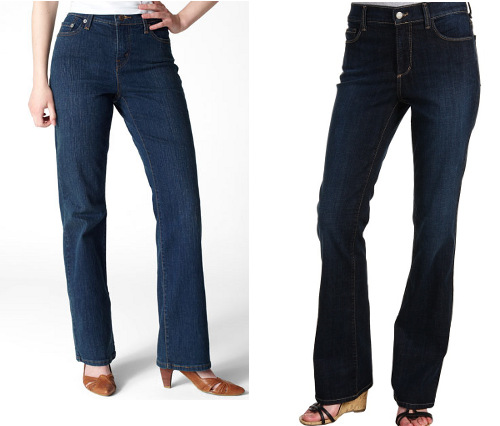 Jeans for apple shapes
