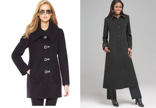 Fall coats for apple body shapes