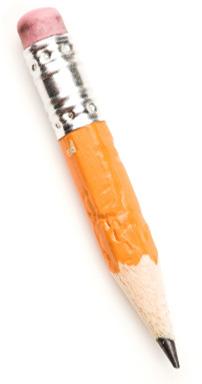 Bitten pencil