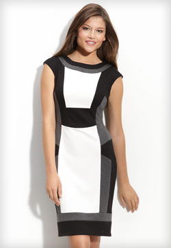Black  White Cocktail Dress on Dress Black White