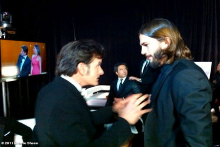 Charlie Sheen's chat with Ashton Kutcher