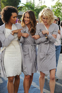 Charlie's Angels 2011: Annie Ilonzeh (General Hospital), Minka Kelly (Friday Night Lights), Rachael Taylor (Grey's Anatomy) and Ramon Rodriguez (The Wire)