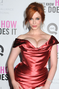 Christina Hendricks' curvy red carpet look