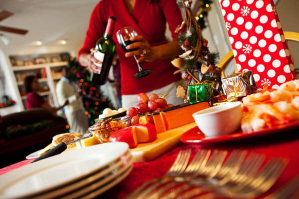 Christmas wine and cheese party