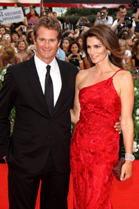 Cindy Crawford is the lady in red