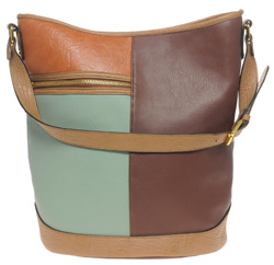 Color block bucket bag