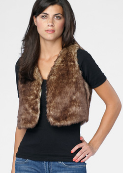 Cropped Faux Fur Laurel Canyon Vest