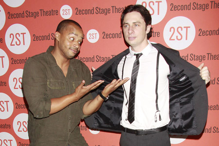 Donald Faison and Zach Braff joke on twitter