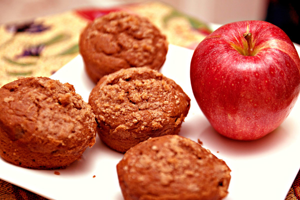 Drunken apple spice muffins