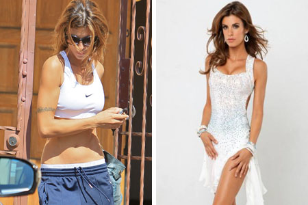 Elisabetta Canalis' vanishing tattoo
