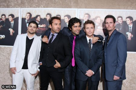 Grenier says it's all about the boys: The Entourage posse, Kevin Connolly, Adrian Grenier, Kevin Dillon, Jerry Ferrara and Jeremy Piven