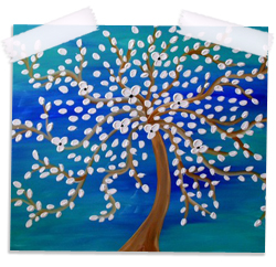 Flowering tree painting