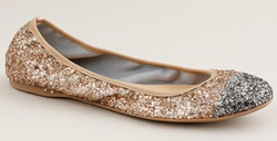 Our pick: Glitter ballet flats in gold (J. Crew, $135).