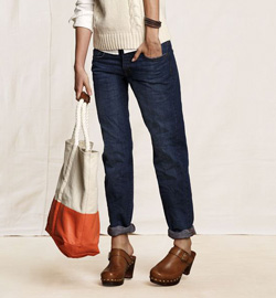 Seen here: Land's End Rigid boyfriend jeans ($20, Land's End)