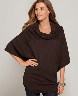Seen here: Style&co. batwing sleeve poncho sweater ($49, Macy's)