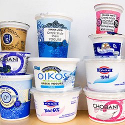 Be wary of dip - variety of yogurts