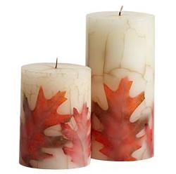 Fall mantel arrangements