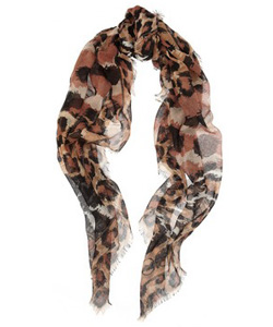 Jimmy Choo Sylana Animal-Print Scarf