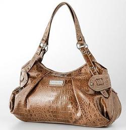 Snakeskin satchel