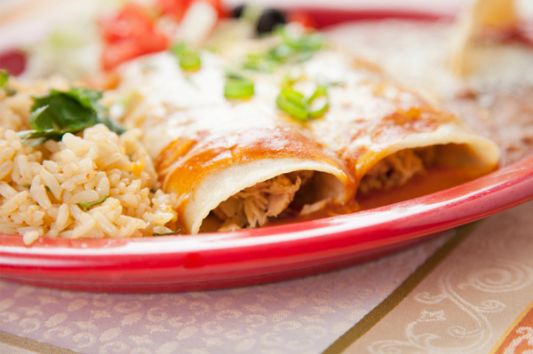 Beef and Mango Enchiladas