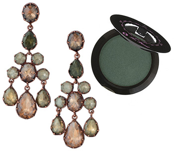 Earrings and eyeshadow