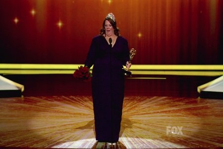 mccarthy emmy lead actress winner!