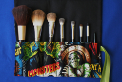 Monster makeup brush roll