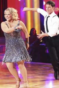 Did Nancy Grace have a nip slip on DWTS