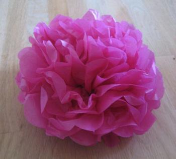 Create a colorful tissue paper garden