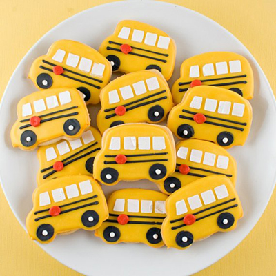 School bus cookies