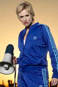 Jane Lynch as Sue Sylvestor on Glee