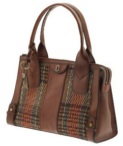 Plaid satchel