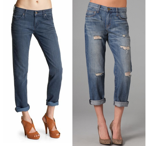 Jeans for wedge-shaped women