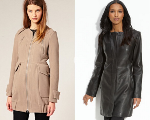 Collarless coats