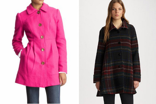 Fall coats for wedge body shapes